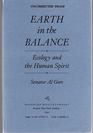 al gore earth in the balance essay Home essays al gore-research paper it was during that time gore wrote his first book, earth in balance an inconvineint truth al gore essay.
