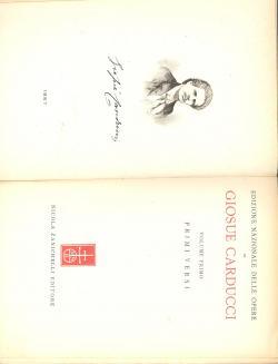 Edizione nazionale delle Opere di Carducci -: Giosue CARDUCCI