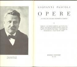 Opere A cura di Cesare Federico Goffis: Giovanni PASCOLI