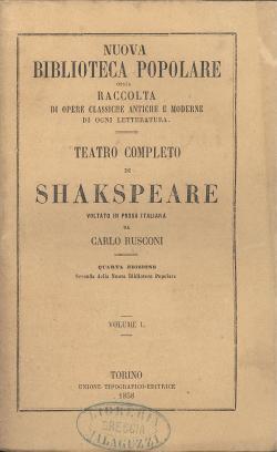 Risalente al tempo di Shakespeare