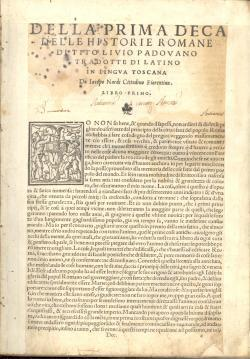 Le deche delle historie romane di Tito: TITO LIVIO (Titus
