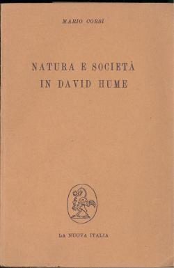 Natura e società in David Hume: Mario CORSI