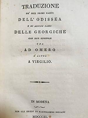 Traduzione de' primi due canti dell'Odissea e: OMERO / (Ippolito