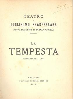La tempesta : commedia in 5 atti