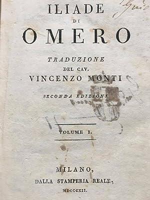Iliade di Omero traduzione del Cav. Vincenzo: OMERO / Vincenzo