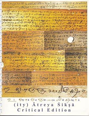 ity) Atreya Siksa (Critical Edition) and Pari Siksa: Peter Freund; Vivek Vaidyanathan; Detlef ...