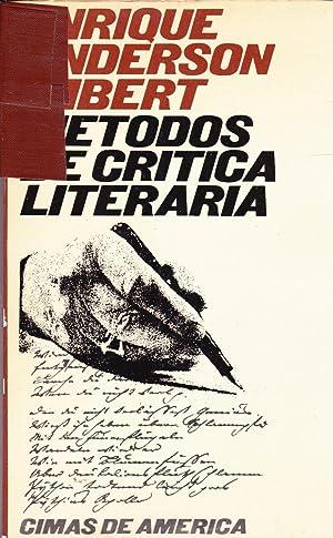 Metodos De Critica Literaria: Enrique Anderson Imbert