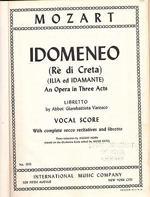 Idomeneo (Re Di Creta) (Ilia Ed Idamante): Mozart
