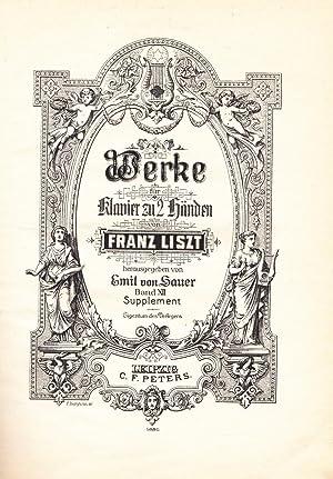 Klavierwerke Band XII Supplement (Sauer): Liszt