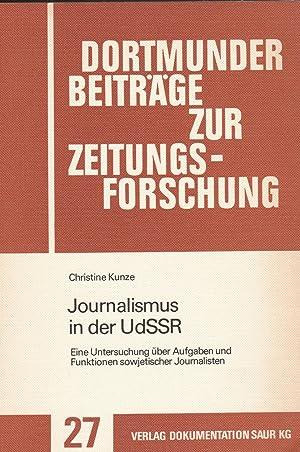 Jounalismus In Der UdSSR: Christine Kunze