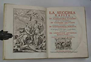 La secchia rapita poema eroicomico di Alessandro: TASSONI ALESSANDRO.