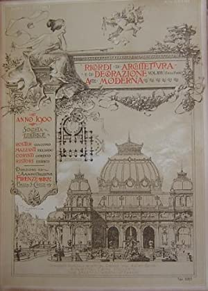 Ricordi di architettura Pubblicazione mensile premiata a: ROSTER G. MAZZANTI