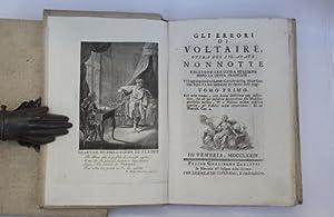 Gli errori di Voltaire Edizione seconda italiana: NONNOTTE CLAUDE-FRANCOIS.