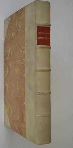 Miscellanea lombardiana.