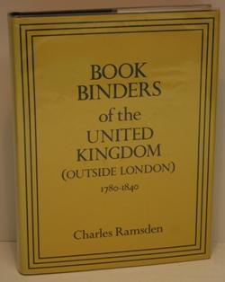 Bookbinders of the United Kingdom. (Outside London). 1780-1840.