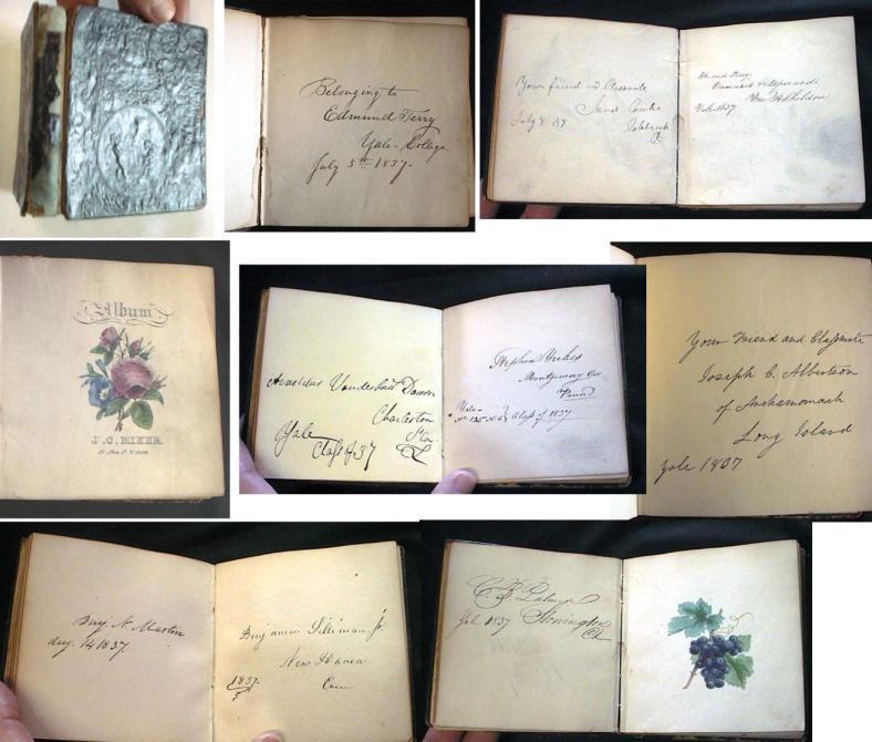 YALE COLLEGE CLASS OF 1837 AUTOGRAPH ALBUM