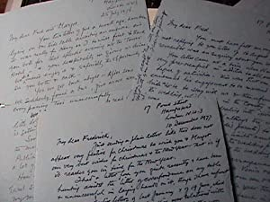 1976 - 1978 ARCHIVE OF HANDWRITTEN LETTERS BETWEEN FAMED WAR ARTIST TO NOTED GERMAN-AMERICAN ...