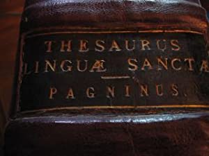 SIR THOMAS PECKITT'S PERSONAL COPY: HEBREW GRAMMAR: Thesaurus Linguæ Sanctæ: ...