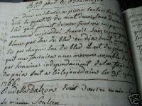 1745 - 1789 HANDWRITTEN MANUSCRIPT JOURNAL, LEDGER: RUDELLE DALZON [DALSON]