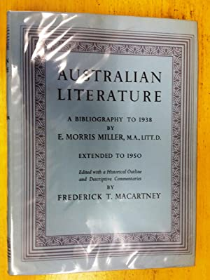 Australian Literature: a Bibliography to 1938