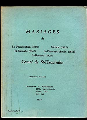 St Hyacinthe County RC Marriages # 73: Pontbriand Benoit &
