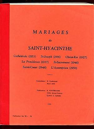 St Hyacinthe RC Marriages Cathédrale St Joseph: Pontbriand Benoit &