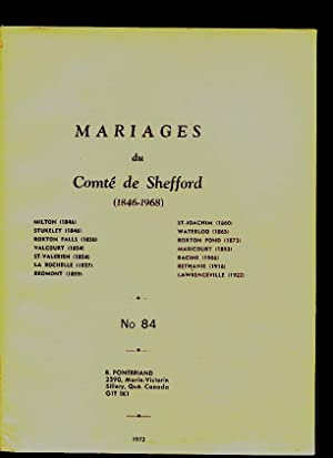 Shefford County RC Marriages # 84: Pontbriand Benoit &