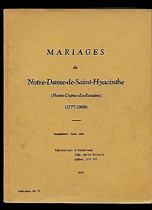 Mariages Marriages De Notre-Dame-de-Saint-Hyacinthe: Pontbriand Benoit &