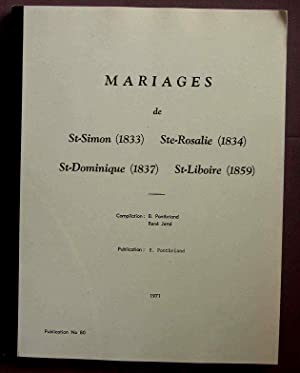 Bagot County RC Marriages # 80: Pontbriand Benoit &