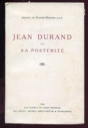 Jean Durand et sa postérité: Durand Joseph Et Viateur