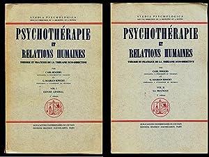 Psychothérapie et Relations Humaines. Théorie et Pratique: ROGERS, Carl. &