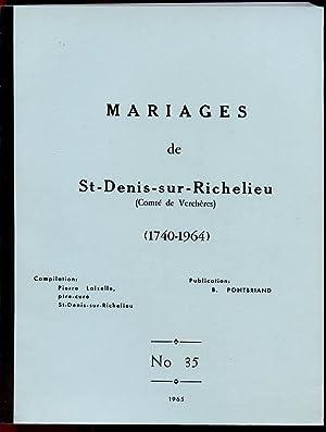 St-Denis-sur-Richelieu -RC Marriages # 35: Pontbriand Benoit &