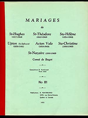 Bagot County RC Marriages # 81: Pontbriand Benoit &