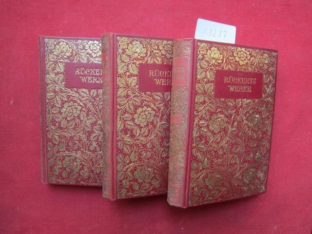 Rückerts Werke. Auswahl in acht Teilen (3: Groß, Edgar (Hrsg.),