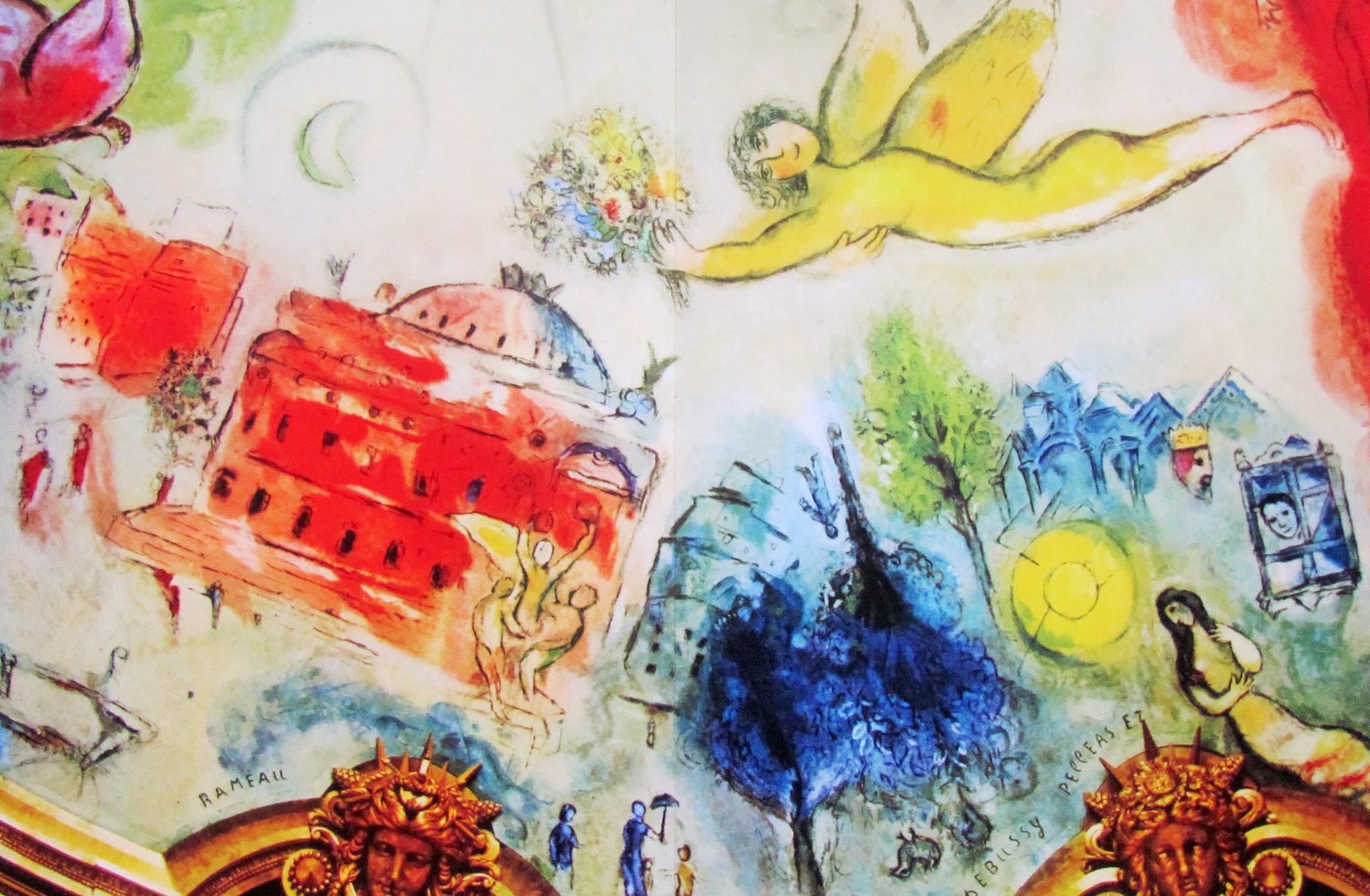 Paris Opera Ceiling 4 Marc Chagall