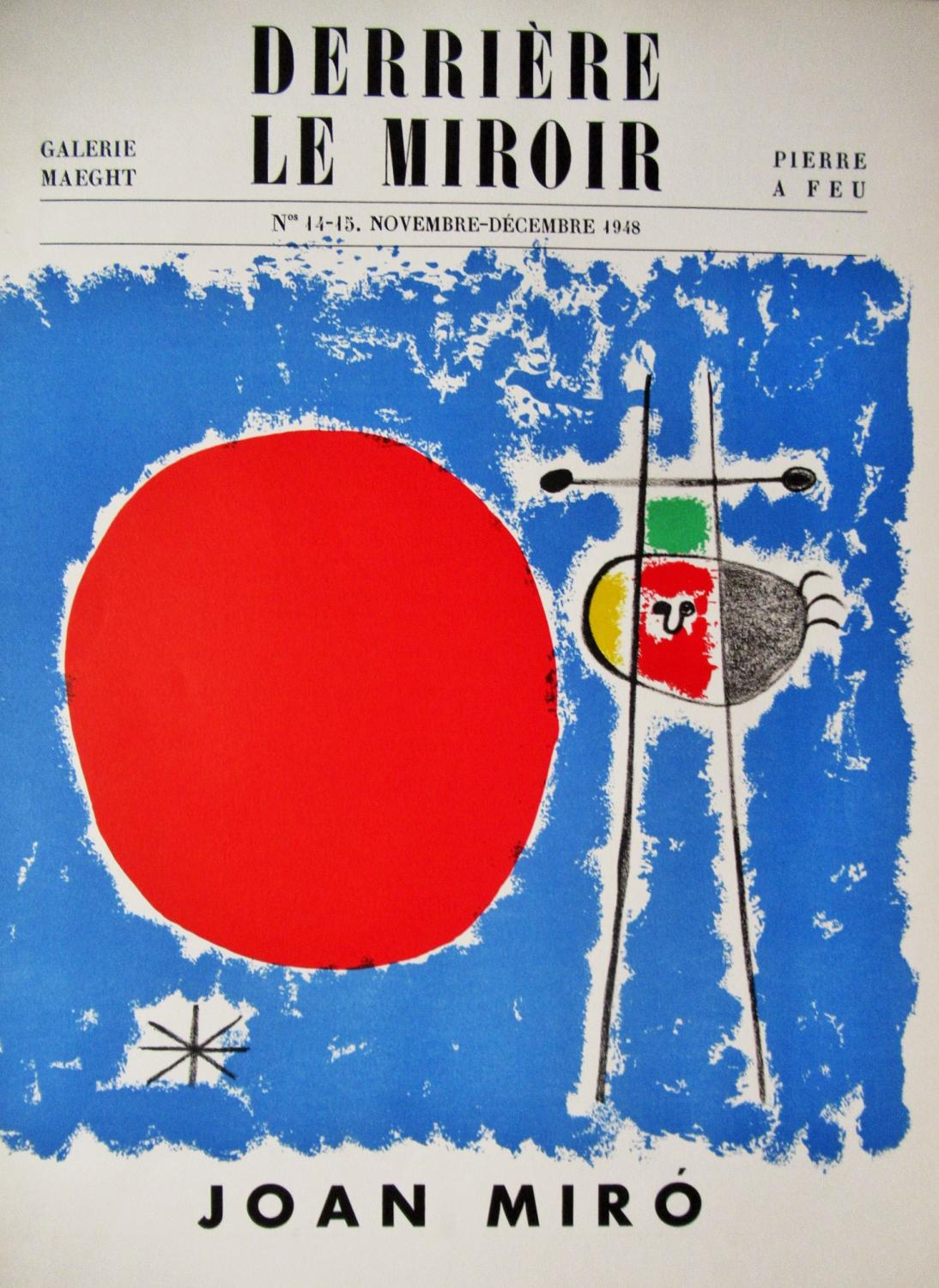 DERRIERE_LE_MIROIR_14-15_(COVER_ONLY)_JOAN_MIRO_[Very_Good]