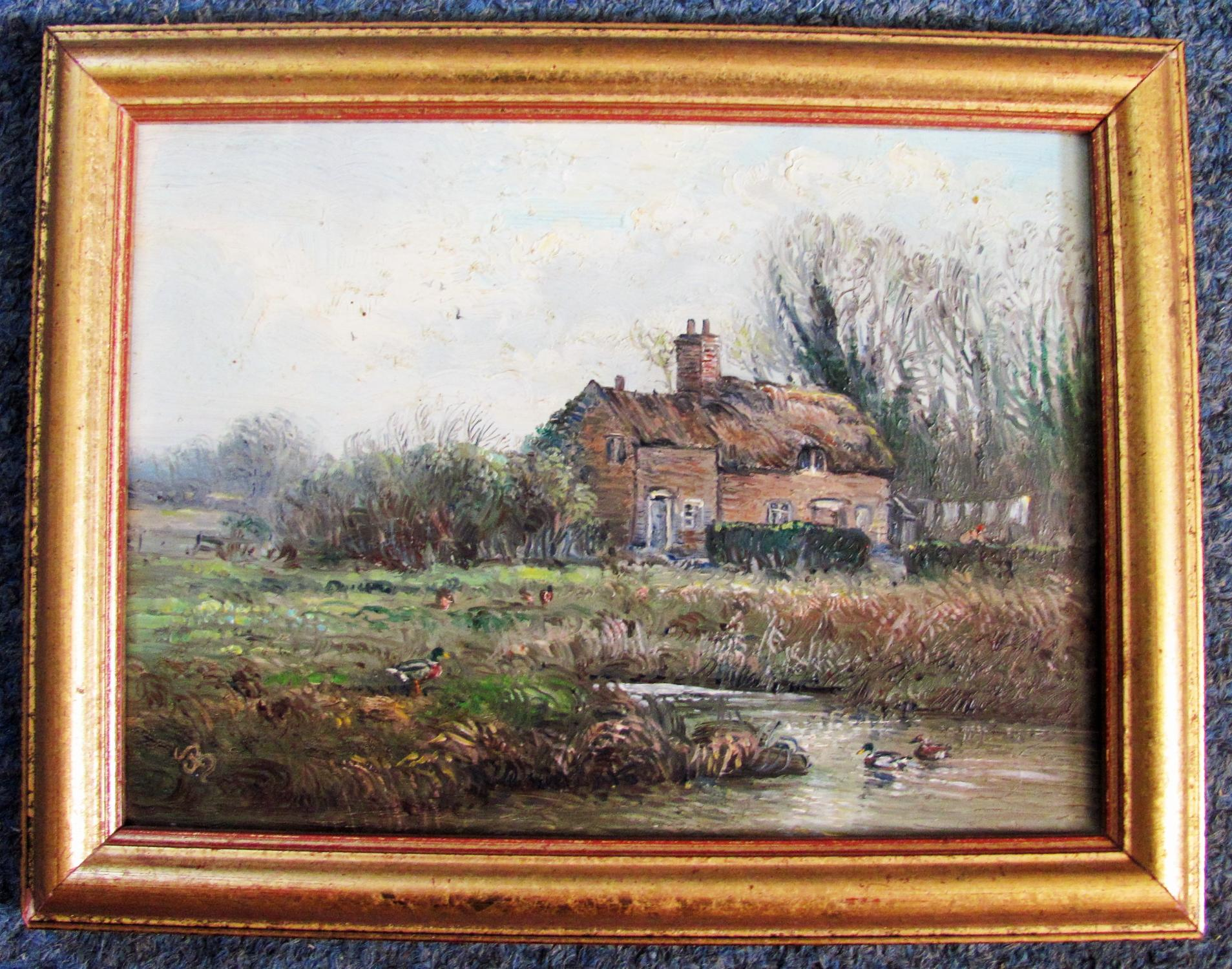 THE_OLD_HOUSE_-_ORIGINAL_OIL_PAINTING_JOHN_MACE_[Near_Fine]