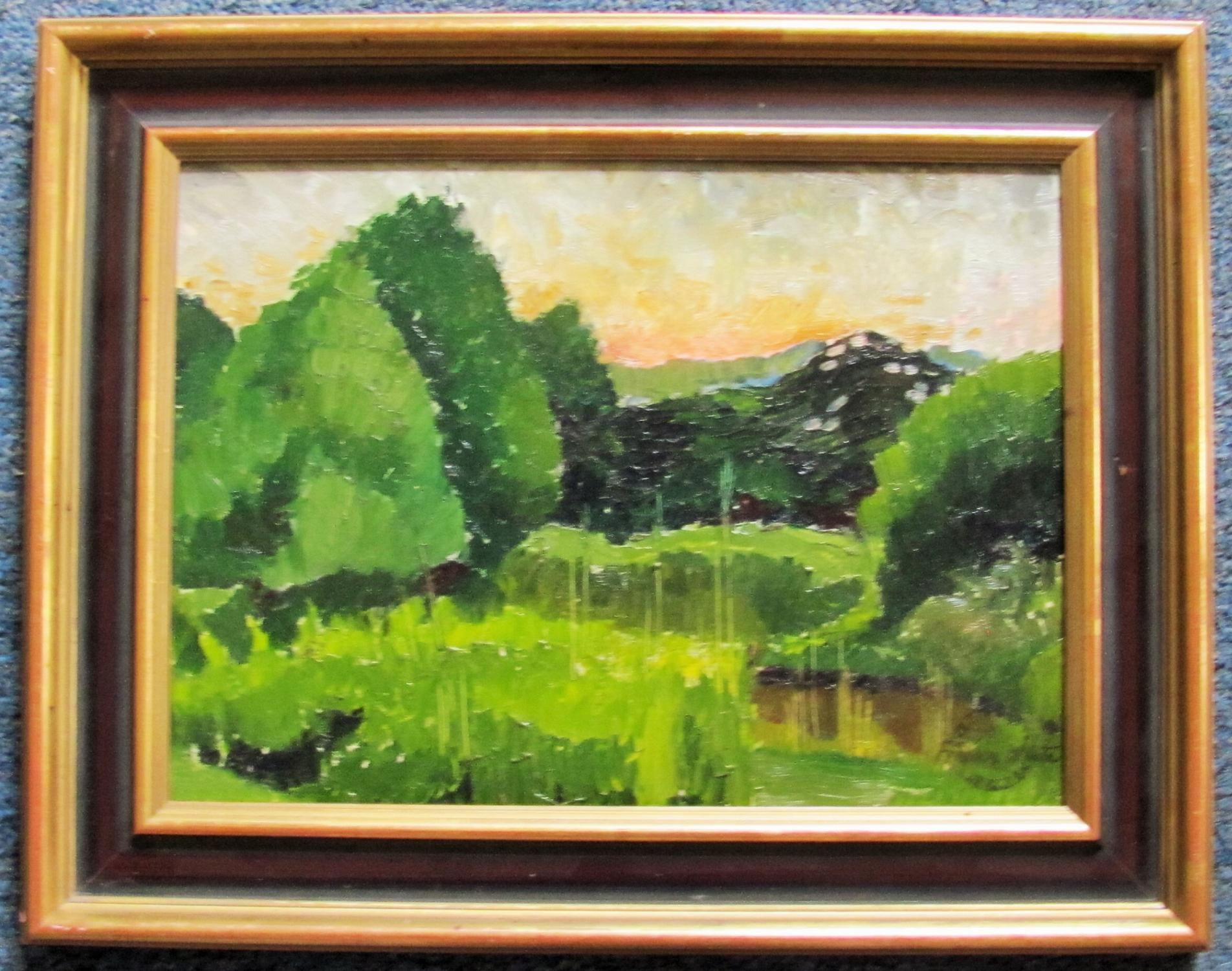 GREEN_VALLEY_-_ORIGINAL_OIL_PAINTING_FRANKLIN_WHITE_[Near_Fine]