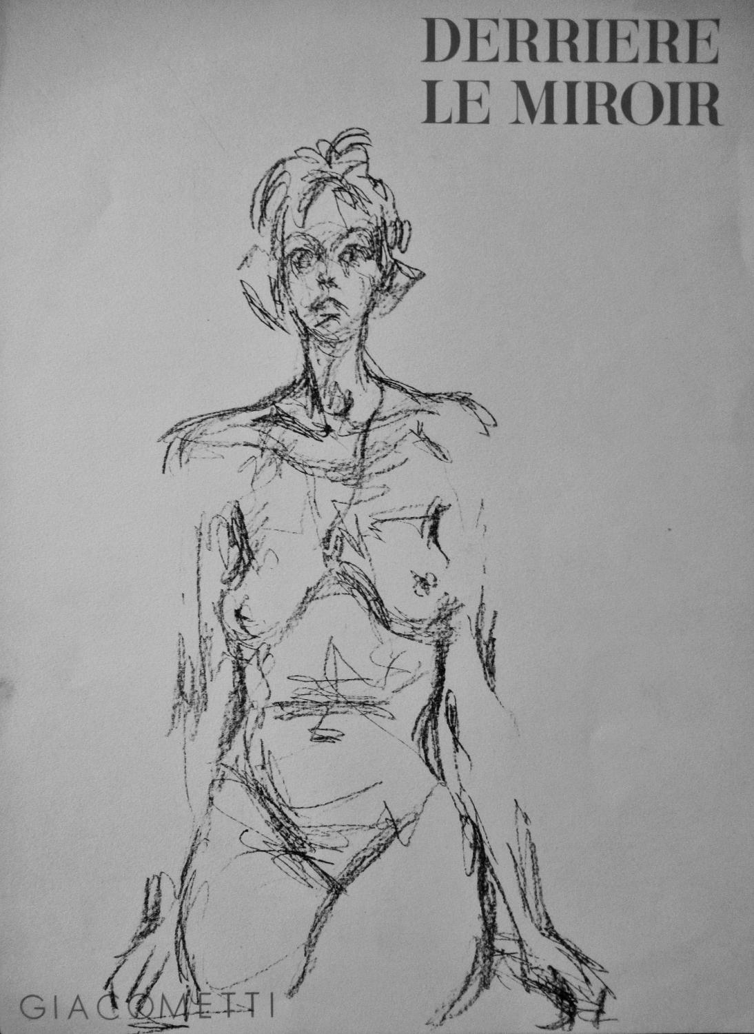 DERRIERE_LE_MIROIR_FRONT_COVER__ORIGINAL_LITHOGRAPH_GIACOMETTI_Very_Good