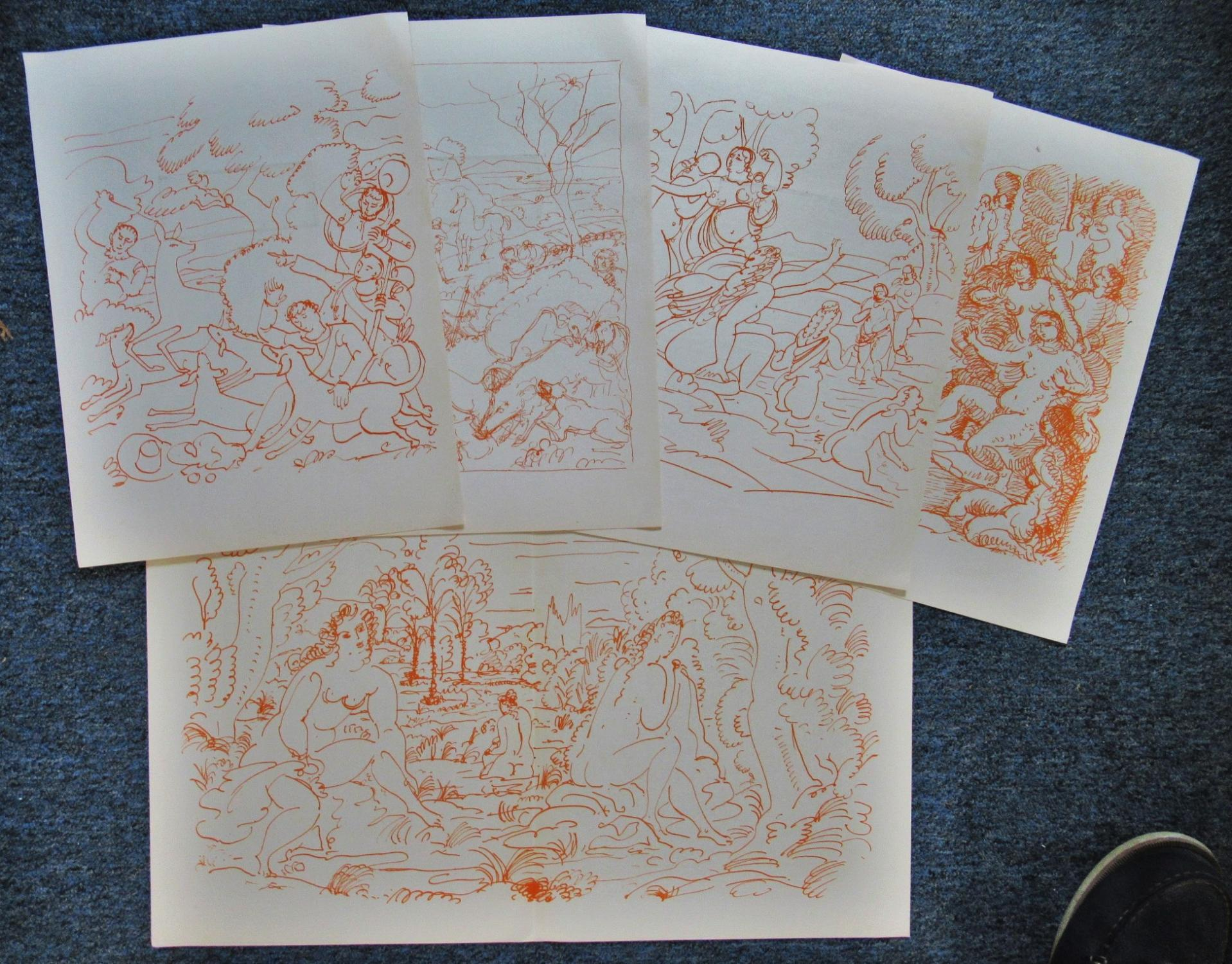 FIVE_ORIGINAL_LITHOGRAPHS_BY_ANDRE_DERAIN_ANDRE_DERAIN_Very_Good