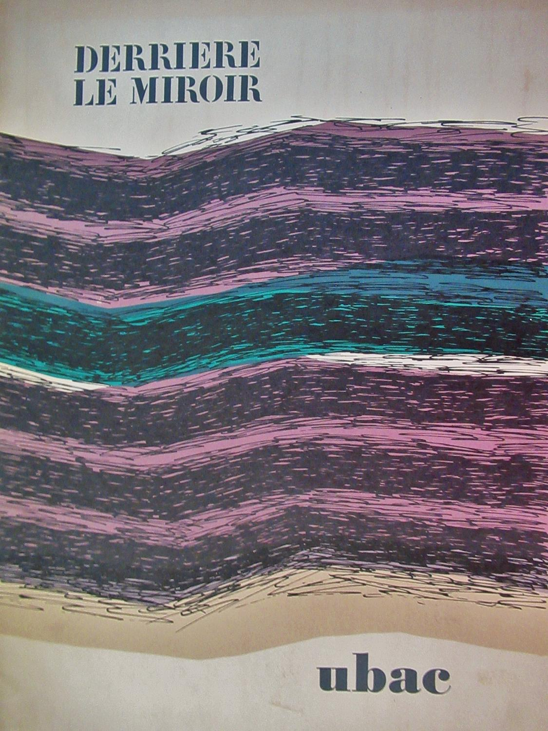 DERRIERE_LE_MIROIR_COVER_ONLY__ORIGINAL_LITHOGRAPH_1971_UBAC_Very_Good