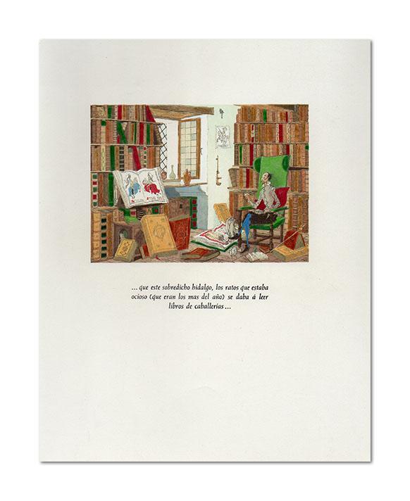 El Ingenioso Hidalgo Don Quixote [Quijote] de la Mancha. Bonita edición, con 94 ...