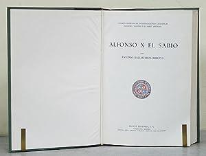 Alfonso X el Sabio.: BALLESTEROS-BERETTA (Antonio).