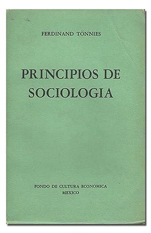 Principios de Sociología.: TÖNNIES (Ferdinand).