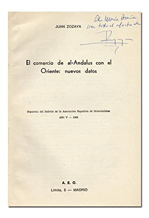 El comercio de al-Andalus con el Oriente: nuevos datos.: ZOZAYA (Juan).