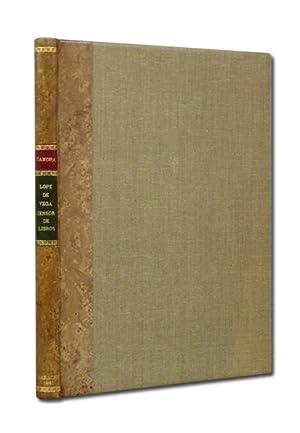 Lope de Vega, censor de libros. Colección: ZAMORA LUCAS (Florentino).