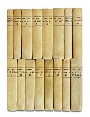 Synopsis historica chronologica de España. [16 TOMOS, REPASADOS Y COMPLETOS].: FERRERAS (...