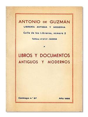 Antonio de Guzmán. Librería antigua y moderna.: ANTONIO DE GUZMÁN.