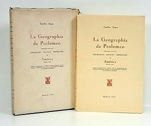 La Geographia [Geografía] de Ptolomeo, ampliada con: SANZ (Carlos).
