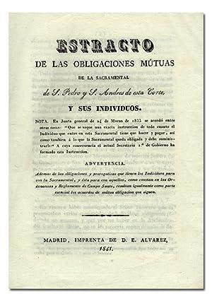 ESTRACTO [extracto] DE LAS OBLIGACIONES MÚTUAS de